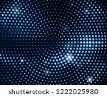 abstract black background with... | Shutterstock .eps vector #1222025980
