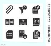 simple set of 9 icons related... | Shutterstock .eps vector #1222028176