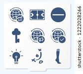 simple set of 9 icons related... | Shutterstock .eps vector #1222028266