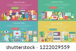 vector collection of flat... | Shutterstock .eps vector #1222029559