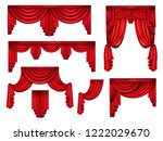 stage red curtains  victorian... | Shutterstock .eps vector #1222029670
