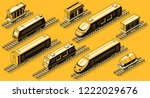 railroad transport  train... | Shutterstock .eps vector #1222029676