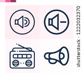 contains such icons as volume ... | Shutterstock .eps vector #1222032370
