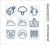 simple set of 9 icons related... | Shutterstock .eps vector #1222032940