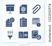 simple set of 9 icons related... | Shutterstock .eps vector #1222032976