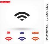 wi fi vector icon   Shutterstock .eps vector #1222034329