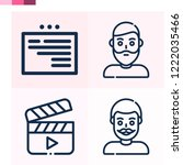 contains such icons as web ... | Shutterstock .eps vector #1222035466