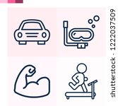 contains such icons as car ... | Shutterstock .eps vector #1222037509