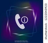 vector phone neon light icon...