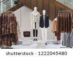 men elegant clothing in a store ...   Shutterstock . vector #1222045480