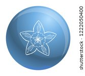botany flower icon. simple... | Shutterstock .eps vector #1222050400
