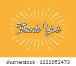 thank you card with sunburst | Shutterstock .eps vector #1222052473