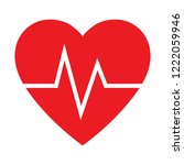 pulse rate of heart  cardiogram ... | Shutterstock .eps vector #1222059946