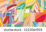 abstract collage asymmetric... | Shutterstock .eps vector #1222064503