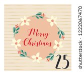 advent calendar with hand drawn ... | Shutterstock .eps vector #1222067470