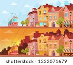 historical city street in... | Shutterstock .eps vector #1222071679