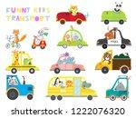set of kids transport on white...   Shutterstock .eps vector #1222076320