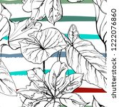 tropical  modern stripes motif. ...   Shutterstock .eps vector #1222076860