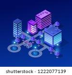 vector isometric urban... | Shutterstock .eps vector #1222077139