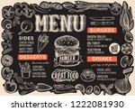 burger menu template for... | Shutterstock .eps vector #1222081930