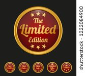 limited edition badge on black... | Shutterstock .eps vector #1222084900