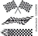 illustration of three racing... | Shutterstock . vector #12220858