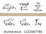 set lettering quotes for design ... | Shutterstock .eps vector #1222087780