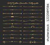 set of golden decorative... | Shutterstock .eps vector #1222089586