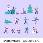 vector winter season set... | Shutterstock .eps vector #1222093573