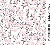fashionable pattern in small... | Shutterstock .eps vector #1222095433