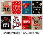 merry christmas and new year... | Shutterstock .eps vector #1222096789