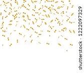 golden confetti isolated.... | Shutterstock .eps vector #1222097329
