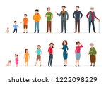 people generations of different ... | Shutterstock .eps vector #1222098229
