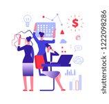 multitasking concept....   Shutterstock .eps vector #1222098286