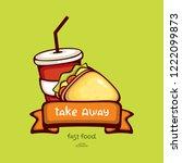 fast food vector illustration....   Shutterstock .eps vector #1222099873