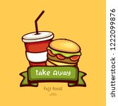 fast food vector illustration....   Shutterstock .eps vector #1222099876