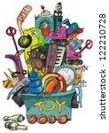 Mass Of Toys   Cartoon   Vector