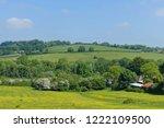 landscape view of fields in the ... | Shutterstock . vector #1222109500