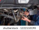 repair work of the brake system ... | Shutterstock . vector #1222110190