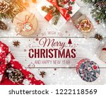 christmas and new year... | Shutterstock . vector #1222118569