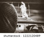 blurred of scientist doing the... | Shutterstock . vector #1222120489