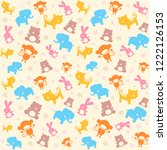 child seamless pattern with... | Shutterstock . vector #1222126153