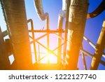 oil pipeline  the oil industry... | Shutterstock . vector #1222127740