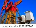 the oil pump  industrial... | Shutterstock . vector #1222127743