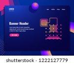 abstract technology banner ... | Shutterstock .eps vector #1222127779