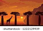 vector african landscape with... | Shutterstock .eps vector #1222129939