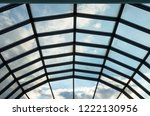 modern glass roof with steel... | Shutterstock . vector #1222130956