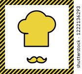 chef hat and moustache sign.... | Shutterstock .eps vector #1222136293