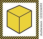 cube sign illustration. vector. ... | Shutterstock .eps vector #1222136353