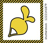 radish simple sign. vector....   Shutterstock .eps vector #1222141879